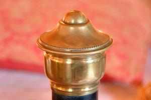 Bed knob close up