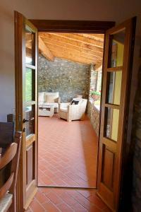 Door to covered balcony