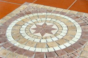 Hand laid mossaics
