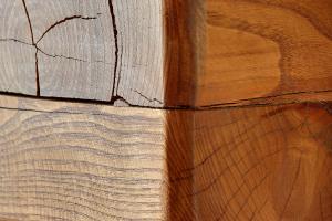 Wooden mantelpiece
